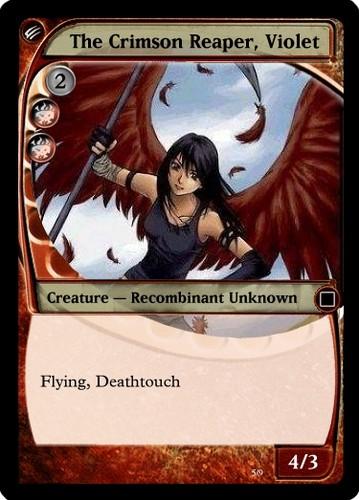 Violet's Trading card