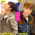 bieber hair now,then,