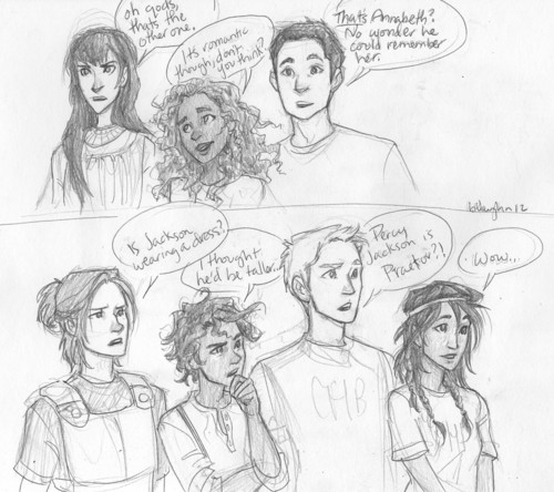 camps reactions - the-heroes-of-olympus Fan Art