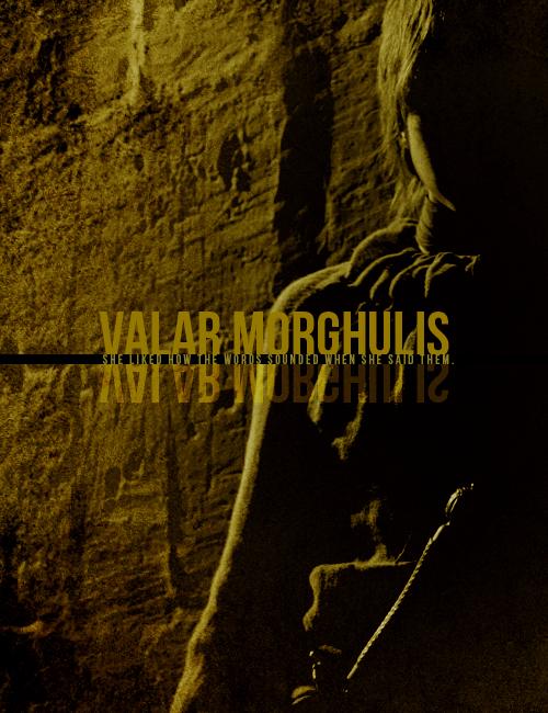 valar morghulis valar dohaeris game of thrones fan art