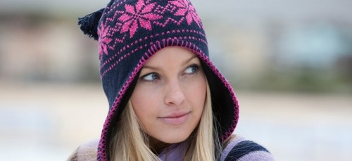 kat in the snow