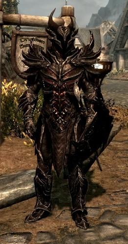 my new armor in skyrim,daedric armor