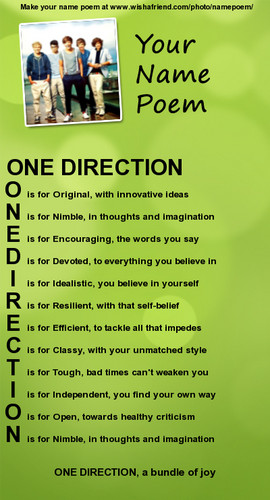 One Direction wallpaper called one direction name meaning
