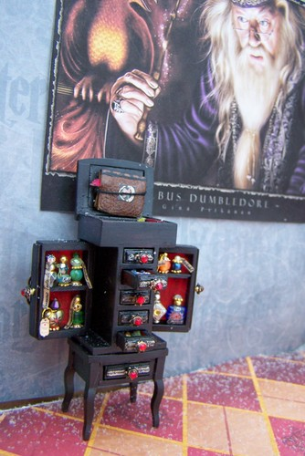 19th Day Miniatures Master Potions Ingredient Cabinet