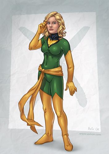 Britta as Jean Grey