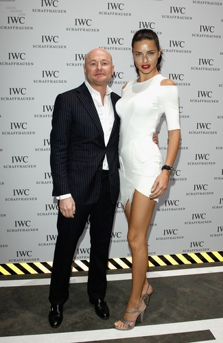 Adriana Lima attends the IWC Schaffhausen tuktok Gun Gala Event in Geneva, January 17 2012