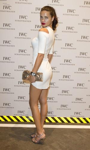 Adriana Lima attends the IWC Schaffhausen topo, início Gun Gala Event in Geneva, January 17 2012
