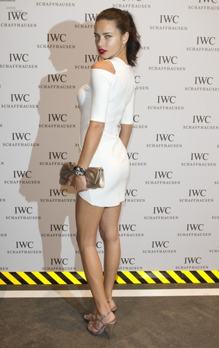 Adriana Lima attends the IWC Schaffhausen سب, سب سے اوپر Gun Gala Event in Geneva, January 17 2012