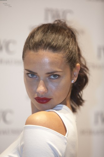Adriana Lima attends the IWC Schaffhausen Top Gun Gala Event in Geneva, January 17 2012