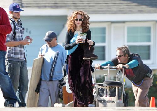 Amanda Seyfried Snacks on Set