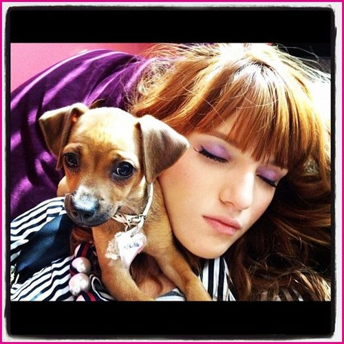 Bella with her dog! <3