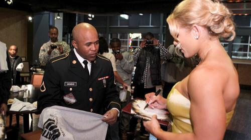 Beth Phoenix's National Guard meet-and-greet in Memphis, Tenn.