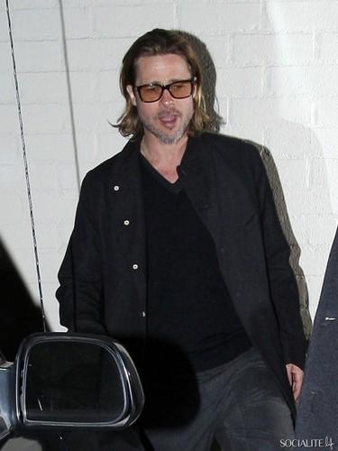 Brad Pitt Leaves Mastro's Steakhouse In Beverly Hills