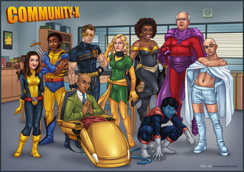 Community wallpaper with anime entitled Community Cast as The X-Men
