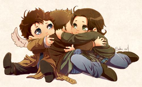 Dean, Cas and Sammy