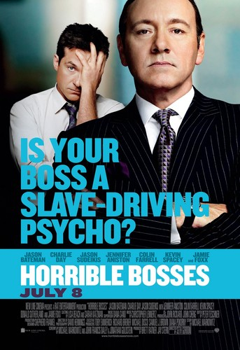 Jason Bateman wallpaper containing a business suit called Horrible Bosses Poster