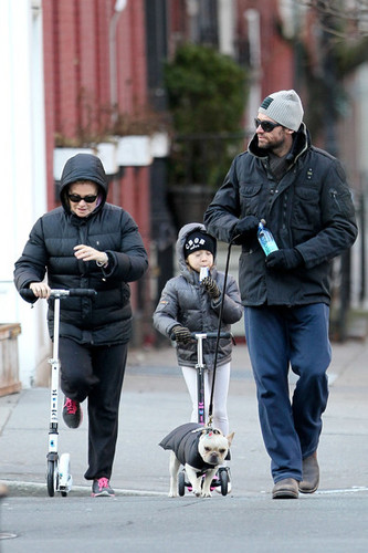 Hugh Jackman and Family Out for a Walk