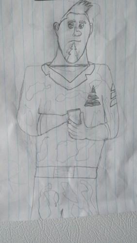 I drew steve XD