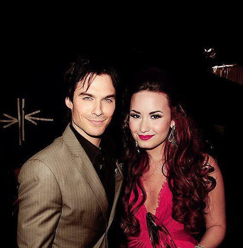 Ian Somerhalder and Demi Lovato