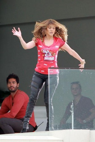 JLo & Casper on the Set of Advert for BRAHMA Beer, LA 16/01/12