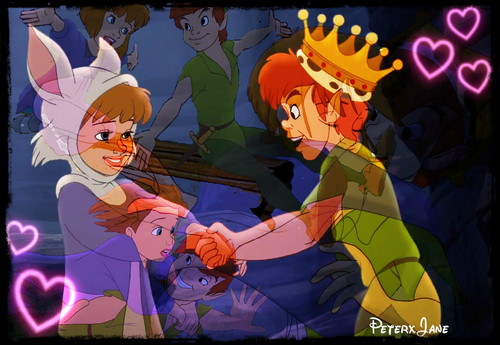 Young Heroines of disney wallpaper containing animê titled Jane and Peter