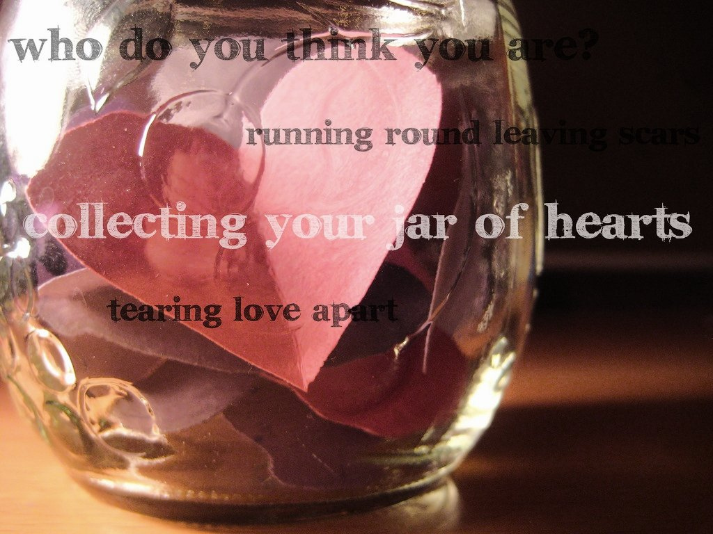 jar of hearts This is my first tab, i hope you all like it it's very simple, so no need to shy away it, you beginners being that i wrote these chords by ear, i wasn't sure about the dm chords, it's the.