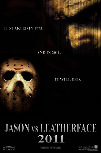 Jason Voorhees wallpaper entitled Jason vs. Leatherface