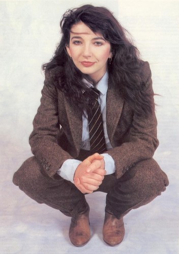 Music wallpaper with a business suit entitled Kate Bush