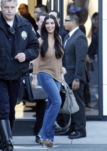 Kim Kardashian shops at Chanel
