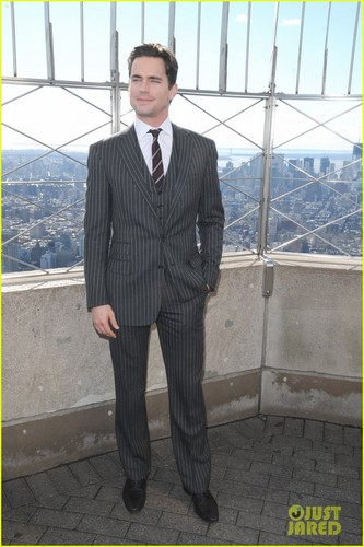 Matt Bomer fond d'écran with a business suit, a suit, and a well dressed person titled Matt Bomer: Channing Tatum was the Best Male Dancer!