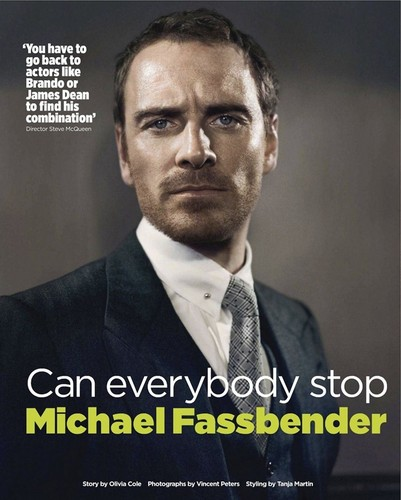 Michael Fassbender wallpaper containing a business suit and a suit entitled Michael Fassbender - Magazine!