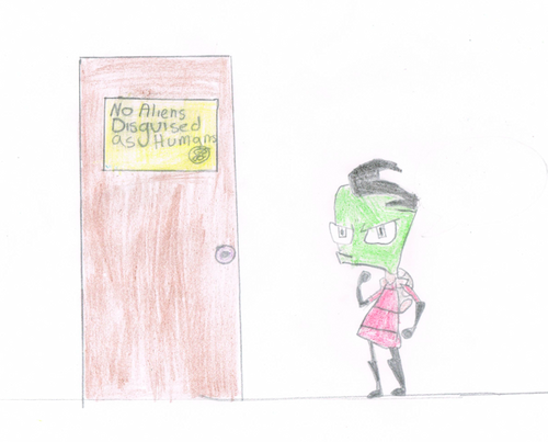 NO ENTRY!!!! - invader-zim Fan Art