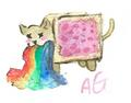 Nyan cat barf Rainbow
