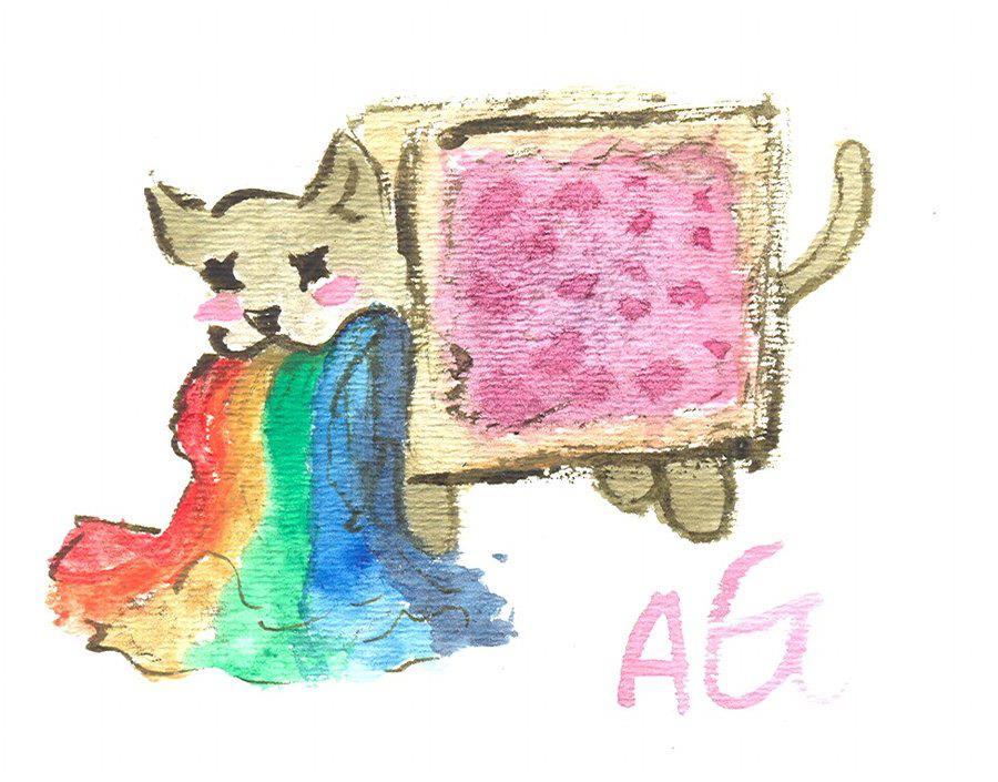 Nyan cat barf arcobaleno
