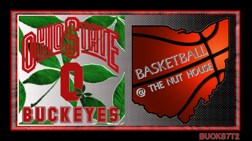 Ohio State universidad baloncesto fondo de pantalla probably with a sign entitled OHIO STATE BUCKEYES baloncesto @ THE NUT HOUSE