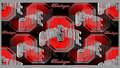 OHIO STATE BUCKEYES RED & GRAY BLOCK O