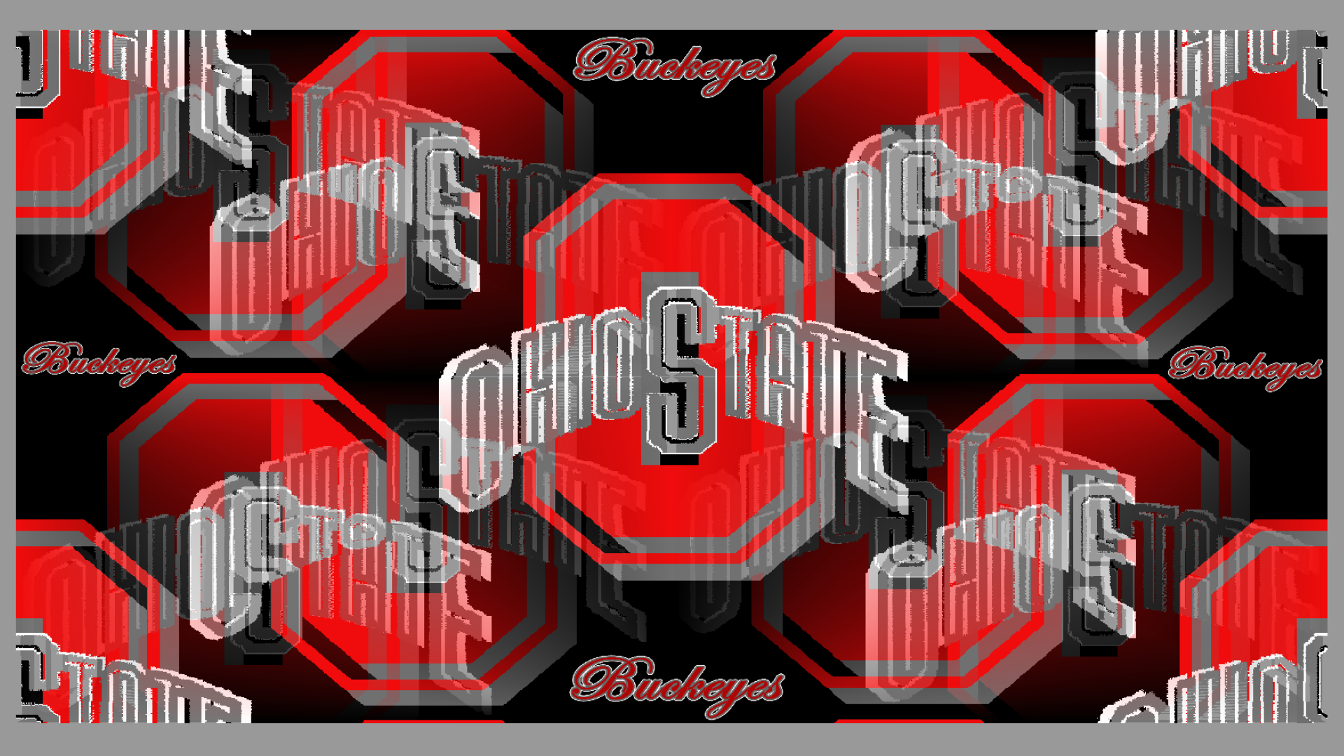 OHIO STATE BUCKEYES RED & GRAY BLOCK O - Ohio State Buckeyes Wallpaper ...