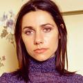PJ Harvey Portrait in Purple Turtleneck - pj-harvey photo