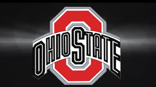 Ohio State Buckeyes fondo de pantalla called RED BLOCK O ON GRAY & BLACK