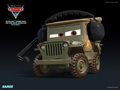 Sarge - disney-pixar-cars-2 wallpaper