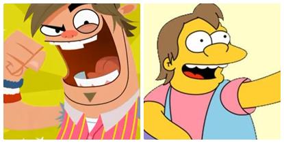 Similarities ~ Boog and Nelson Muntz