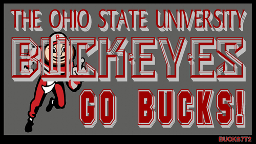 Ohio State Buckeyes karatasi la kupamba ukuta probably containing anime called THE OHIO STATE chuo kikuu, chuo kikuu cha GO BUCKS!