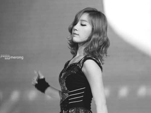 Kim Taeyeon wallpaper possibly containing a cocktail dress and a bustier called Taeyeon @ 2012 Girls Generation Tour in Hongkong