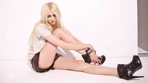 The Pretty Reckless Hintergrund probably with bare legs, hosiery, and a chemise called Taylor Momsen