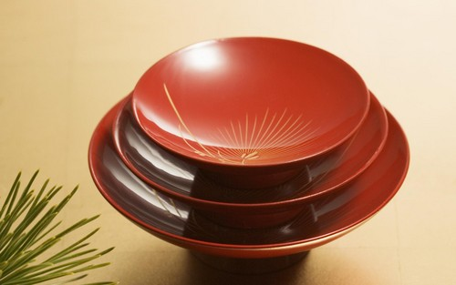 Three Red Bowls 바탕화면