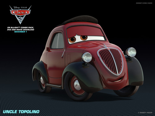 Disney Pixar Cars 2 wallpaper with a sedan called Umcle Topolino