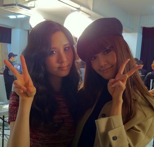 Yoona and Seohyun Selca _ WKorea