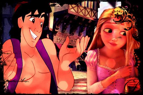 अलादीन and rapunzel