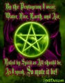 as i were the pentagram - paganism photo