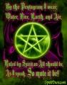 as i were the pentagram